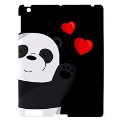 Cute Panda Apple Ipad 3/4 Hardshell Case by Valentinaart