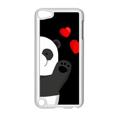 Cute Panda Apple Ipod Touch 5 Case (white) by Valentinaart