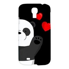 Cute Panda Samsung Galaxy S4 I9500/i9505 Hardshell Case by Valentinaart