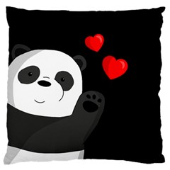 Cute Panda Standard Flano Cushion Case (one Side) by Valentinaart