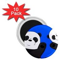 Cute Pandas 1 75  Magnets (10 Pack)  by Valentinaart