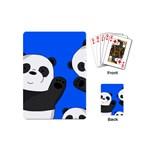 Cute pandas Playing Cards (Mini)  Back