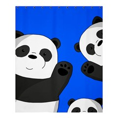 Cute Pandas Shower Curtain 60  X 72  (medium)  by Valentinaart