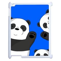 Cute Pandas Apple Ipad 2 Case (white) by Valentinaart