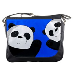 Cute Pandas Messenger Bags by Valentinaart