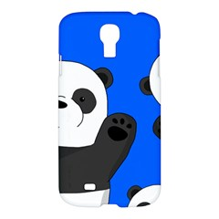 Cute Pandas Samsung Galaxy S4 I9500/i9505 Hardshell Case by Valentinaart