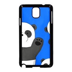 Cute Pandas Samsung Galaxy Note 3 Neo Hardshell Case (black) by Valentinaart