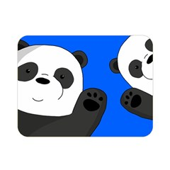 Cute Pandas Double Sided Flano Blanket (mini)  by Valentinaart