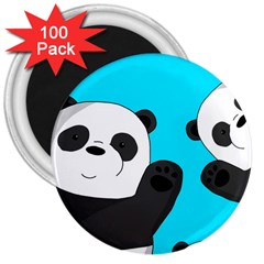 Cute Pandas 3  Magnets (100 Pack)