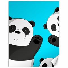 Cute Pandas Canvas 12  X 16   by Valentinaart