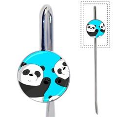 Cute Pandas Book Mark by Valentinaart