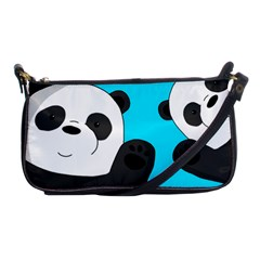 Cute Pandas Shoulder Clutch Bags by Valentinaart