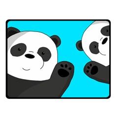 Cute Pandas Fleece Blanket (small) by Valentinaart