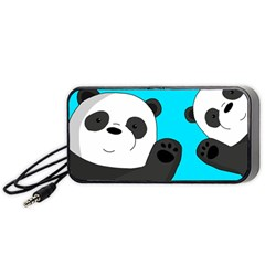 Cute Pandas Portable Speaker (black) by Valentinaart