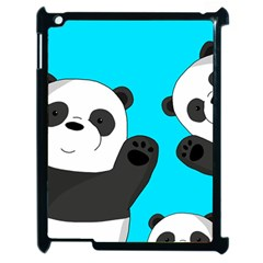 Cute Pandas Apple Ipad 2 Case (black) by Valentinaart