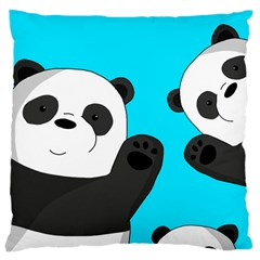 Cute Pandas Large Cushion Case (two Sides) by Valentinaart