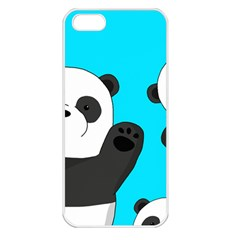Cute Pandas Apple Iphone 5 Seamless Case (white) by Valentinaart
