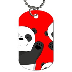 Cute Pandas Dog Tag (two Sides) by Valentinaart