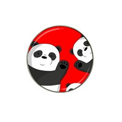 Cute Pandas Hat Clip Ball Marker (10 Pack) by Valentinaart