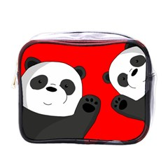Cute Pandas Mini Toiletries Bags by Valentinaart