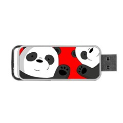 Cute Pandas Portable Usb Flash (two Sides) by Valentinaart