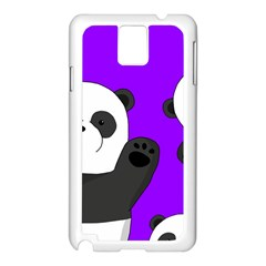 Cute Pandas Samsung Galaxy Note 3 N9005 Case (white) by Valentinaart