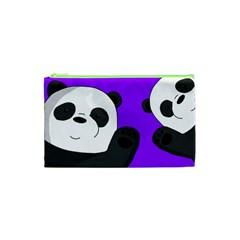 Cute Pandas Cosmetic Bag (xs) by Valentinaart
