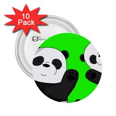 Cute Pandas 2 25  Buttons (10 Pack)  by Valentinaart