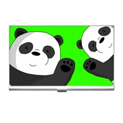 Cute Pandas Business Card Holders by Valentinaart
