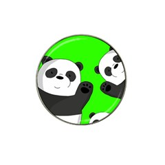 Cute Pandas Hat Clip Ball Marker by Valentinaart