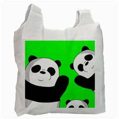 Cute Pandas Recycle Bag (two Side)  by Valentinaart