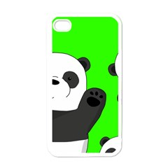 Cute Pandas Apple Iphone 4 Case (white) by Valentinaart