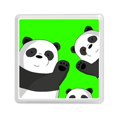 Cute Pandas Memory Card Reader (square)  by Valentinaart
