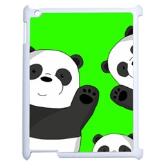 Cute Pandas Apple Ipad 2 Case (white) by Valentinaart