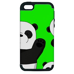 Cute Pandas Apple Iphone 5 Hardshell Case (pc+silicone) by Valentinaart