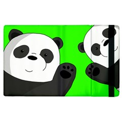 Cute Pandas Apple Ipad 2 Flip Case by Valentinaart