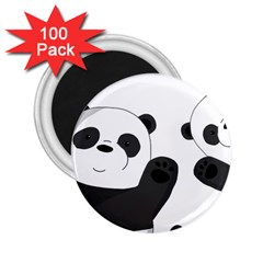 Cute Pandas 2 25  Magnets (100 Pack)  by Valentinaart