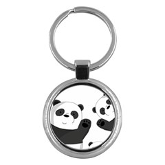 Cute Pandas Key Chains (round)  by Valentinaart