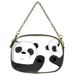 Cute Pandas Chain Purses (one Side)  by Valentinaart
