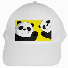 Cute Pandas White Cap by Valentinaart
