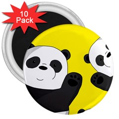 Cute Pandas 3  Magnets (10 Pack)  by Valentinaart