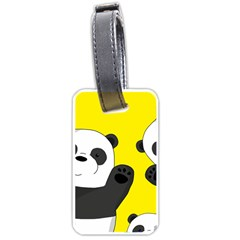 Cute Pandas Luggage Tags (two Sides) by Valentinaart