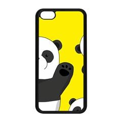 Cute Pandas Apple Iphone 5c Seamless Case (black) by Valentinaart
