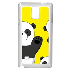 Cute Pandas Samsung Galaxy Note 4 Case (white) by Valentinaart