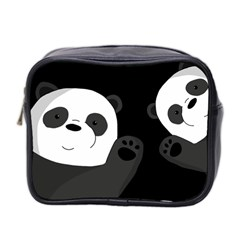 Cute Pandas Mini Toiletries Bag 2 Side by Valentinaart