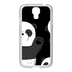 Cute Pandas Samsung Galaxy S4 I9500/ I9505 Case (white) by Valentinaart