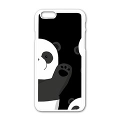 Cute Pandas Apple Iphone 6/6s White Enamel Case by Valentinaart