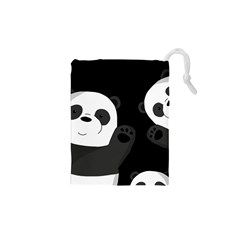 Cute Pandas Drawstring Pouches (xs)  by Valentinaart