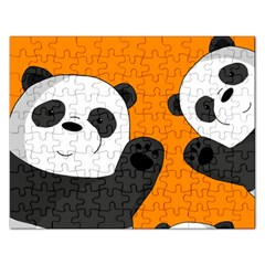 Cute Pandas Rectangular Jigsaw Puzzl by Valentinaart
