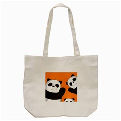 Cute Pandas Tote Bag (cream) by Valentinaart